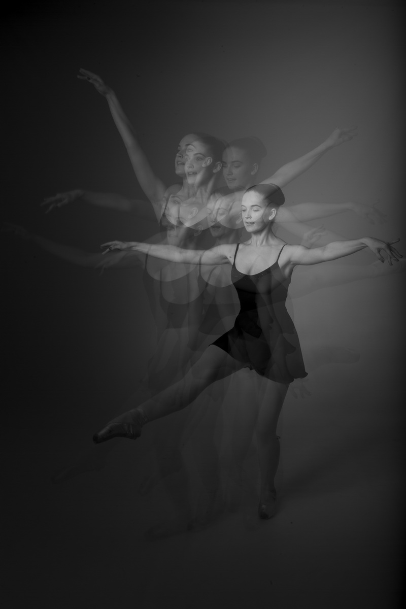 ballet multiple exposure photos orange county studio