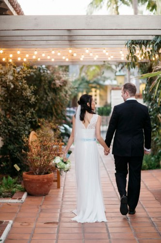 sherman gardens wedding corona del mar bride and groom