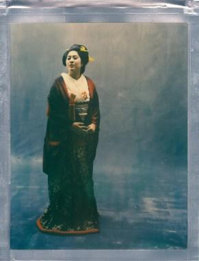 color 8 x 10 polaroid impossible project film nicole caldwell kimono 01
