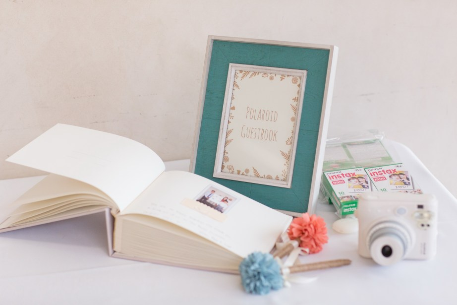 seven degrees wedding laguna beach photographer nicole caldwell poalroid guest book ideas