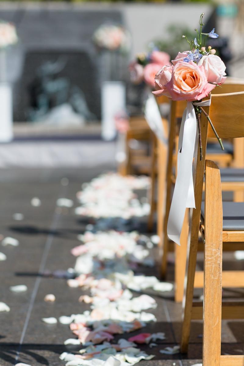 seven degrees wedding laguna beach photographer nicole caldwell ceremony decor