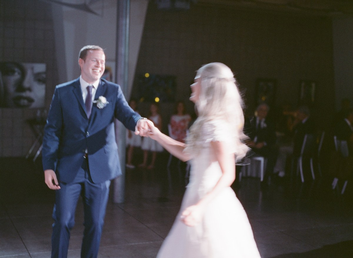 seven degrees wedding photographer nicole caldwell who uses film cinestill first dance