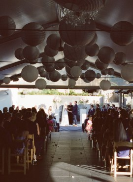 seven degrees wedding photographer nicole caldwell who uses film cinestill wedding ceremony
