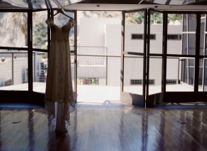 seven degrees wedding photographer nicole caldwell who uses film cinestill dress hanging