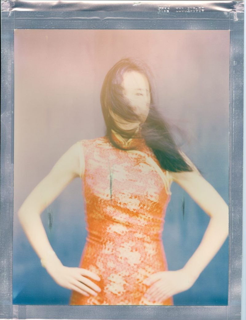bridal portrait 8 x 10 polaroid color impossible project film nicole caldwell chinese traditional wedding dress