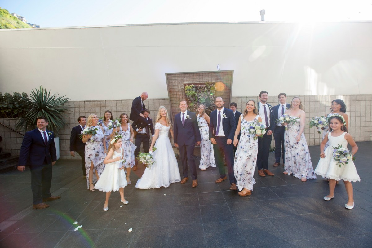 bridal party laguna beach wedding venue seven degrees photographer nicole caldwell