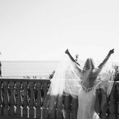 bride wedding baclcony bel air bay club wedding palos verdes