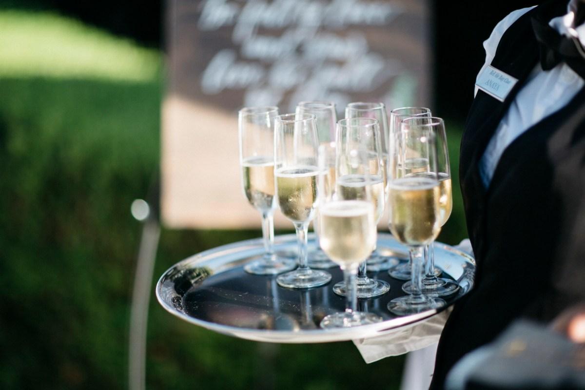 champagne greeting wedding bel air bay club wedding palos verdes