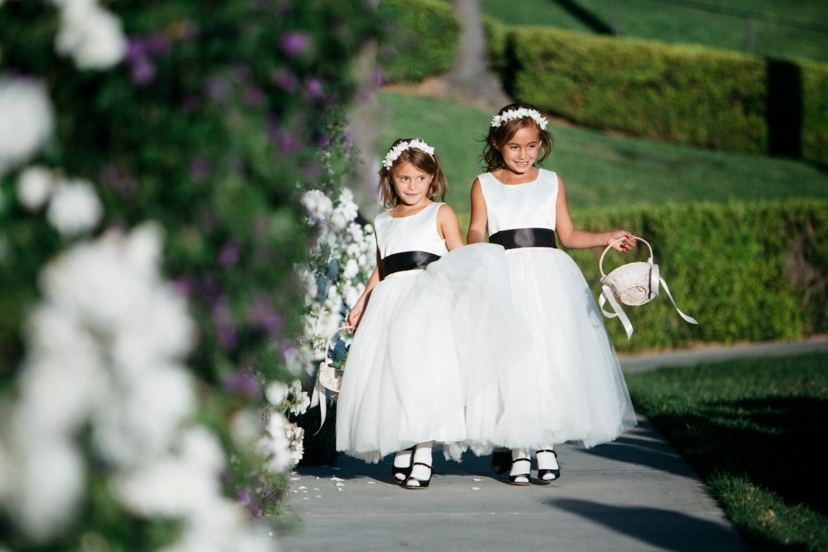 flowers girls wedding ceremony bel air bay club wedding palos verdes