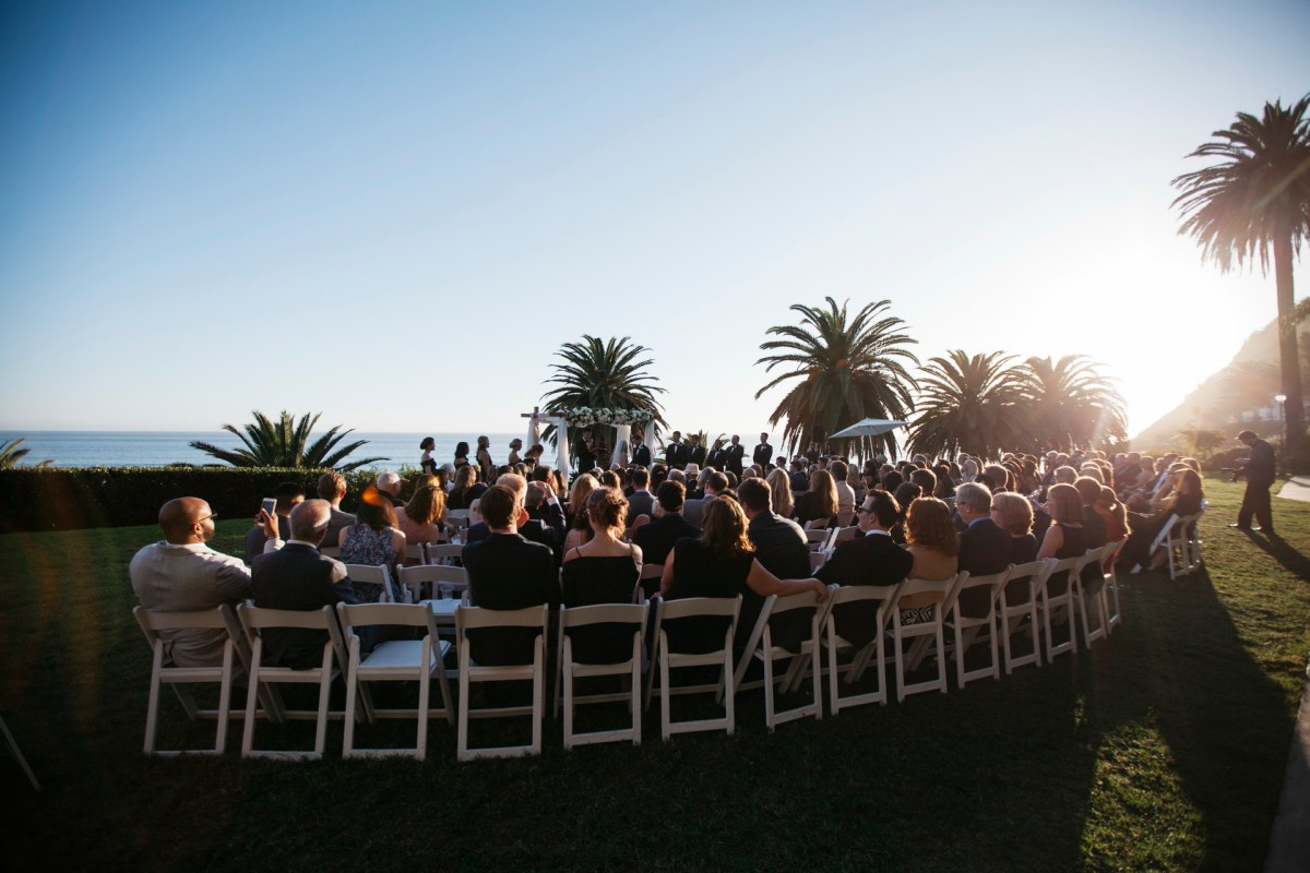 ceremony view wedding bel air bay club wedding palos verdes