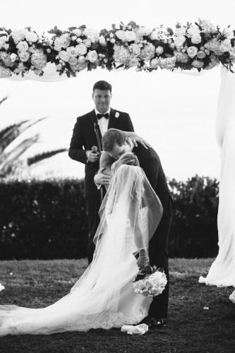 frist kiss wedding bel air bay club wedding palos verdes