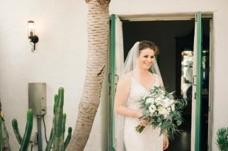 casa romantica san clemente wedding photographer artistic bride smiling