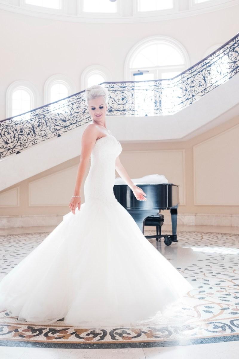 bride twirling Monarch beach resort wedding photographer nicole caldwell