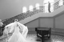 Monarch beach resort wedding photographer nicole caldwell grom walking to see bride first look