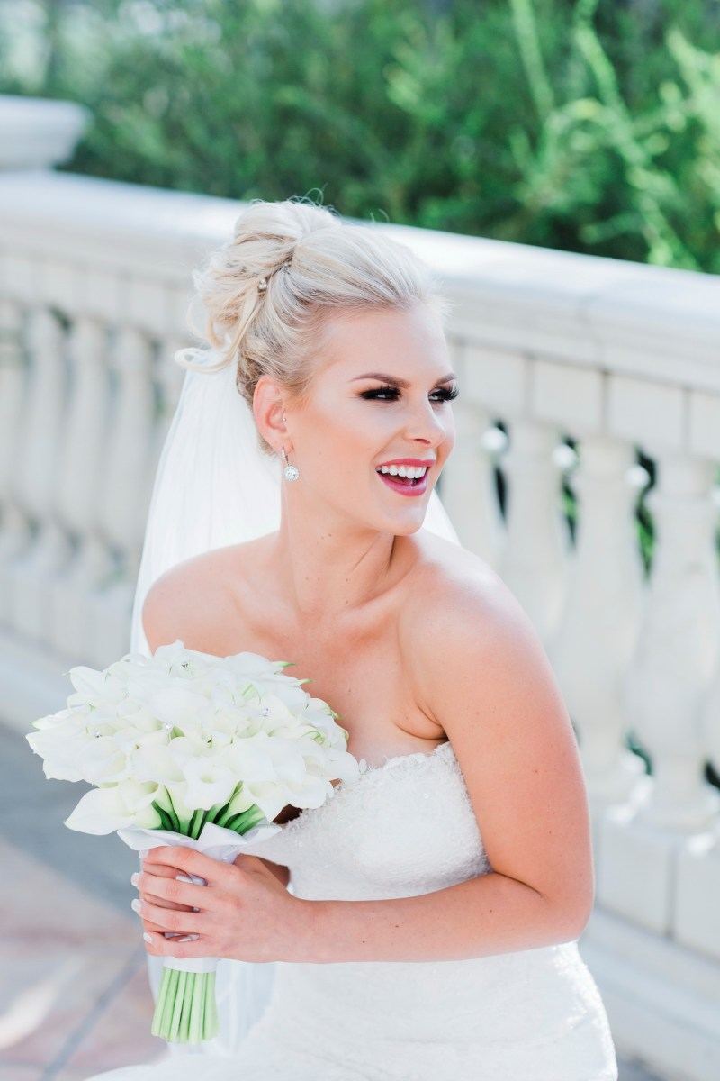 bride smiling Monarch beach resort wedding photographer nicole caldwell
