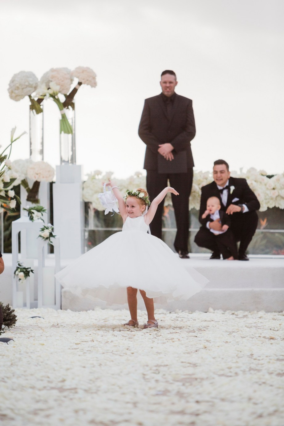 flower girl Monarch beach resort wedding photographer nicole caldwell