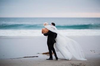 Monarch beach resort wedding photographer nicole caldwell bride and groom on beach