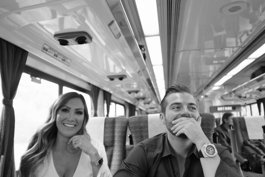 engagement photos theme ideas train station nicole caldwell08