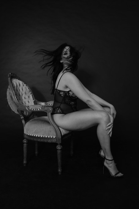 black and white boudoir photograph orange county photographer nicole caldwell