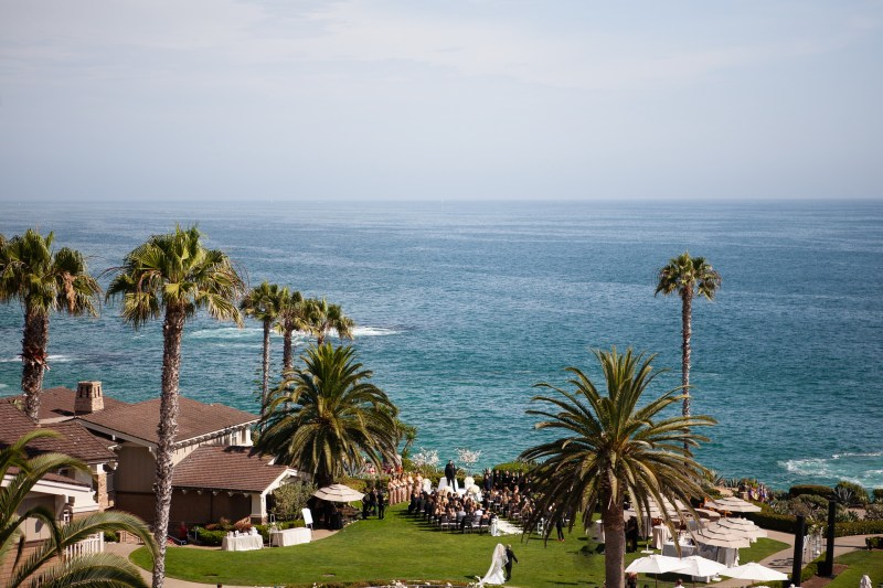 ceremony bride and groom wedding montage laguna beach