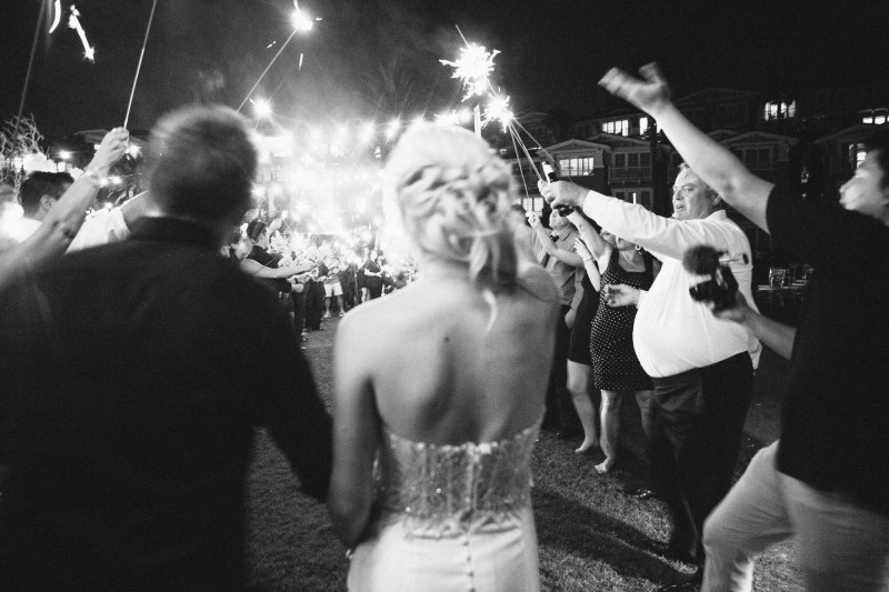 sparkler send off montage resort laguna beach wedding