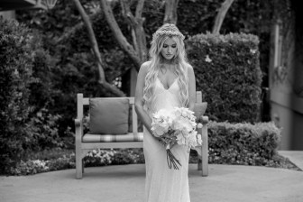 bride with bouquet wedding ceremony ocean terrace wedding photos surf and sand resort laguna beach