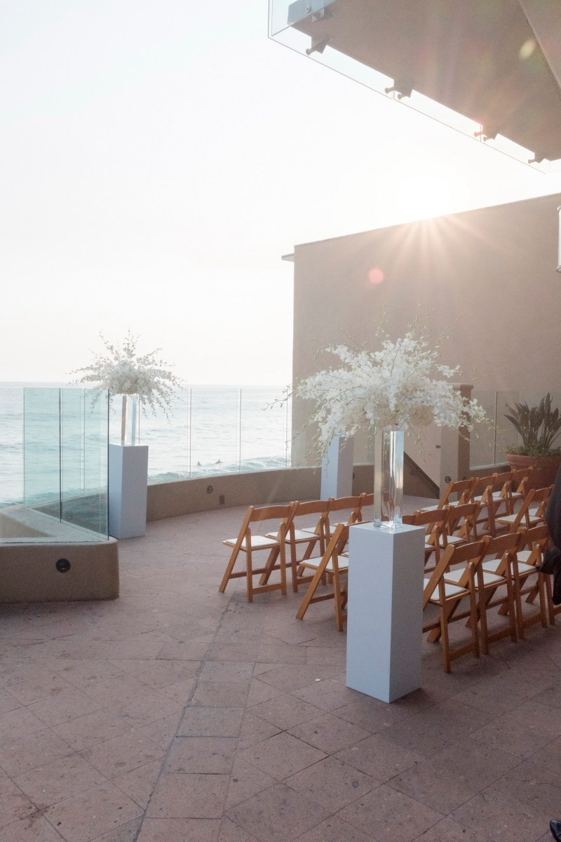 wedding ceremony ocean terrace wedding photos surf and sand resort laguna beach
