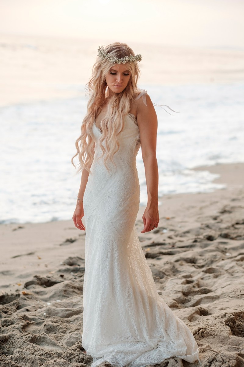 bride on beach wedding photos surf and sand resort laguna beach