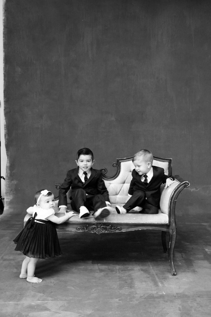 classic black and white family studio photographs nicole caldwell 03