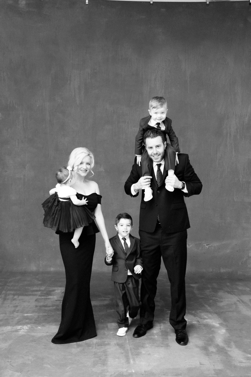classic black and white family studio photographs nicole caldwell 06
