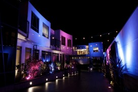 nightime exterior seven degrees wedding photographer laguna beach