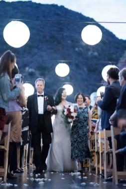 bride walking down aisle seven degrees wedding photographer laguna beach