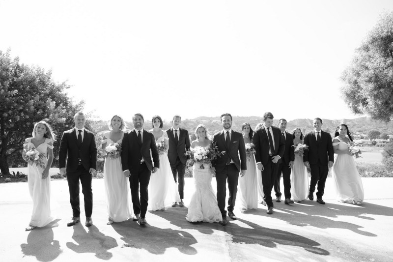 bridal party Coto De Caza Raquet and golf club weddings by nicole caldwell