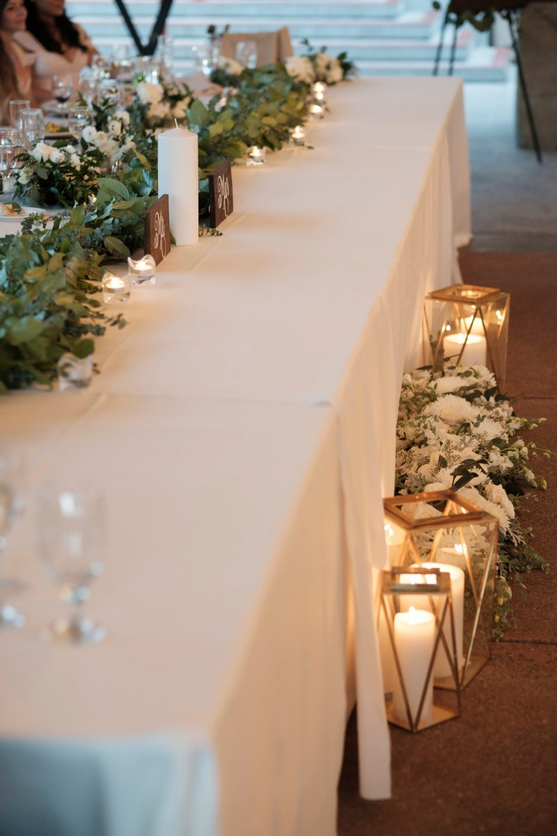 head table recption Coto De Caza Raquet and golf club weddings by nicole caldwell