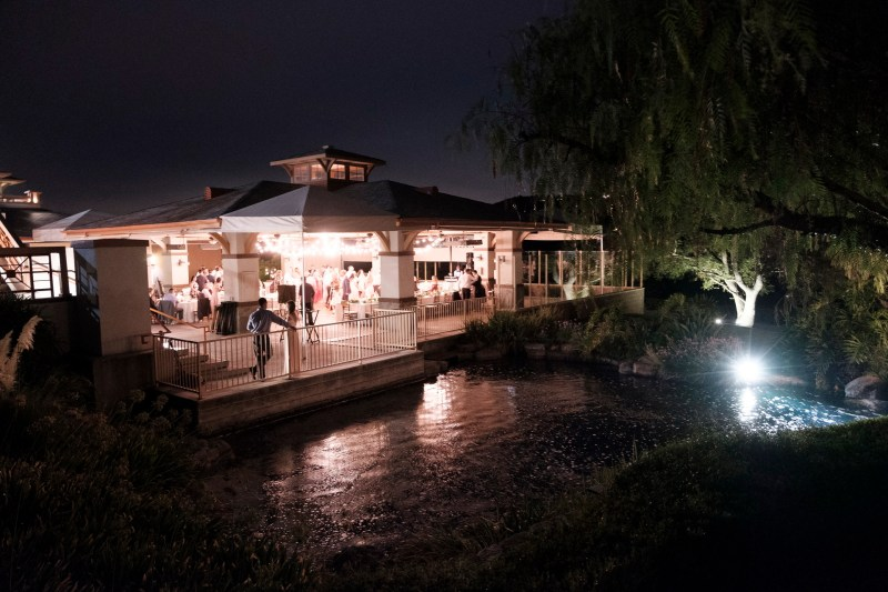 reception at night Coto De Caza Raquet and golf club weddings by nicole caldwell
