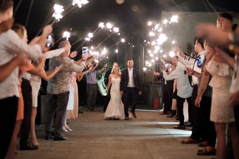 brdie and groom sparkler sendoof Coto De Caza Raquet and golf club weddings by nicole caldwell