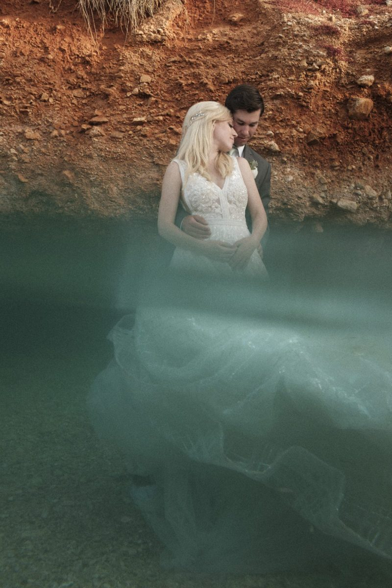destination wedding greece, wedding couple bride and groom in water underwater photography nicole caldwell