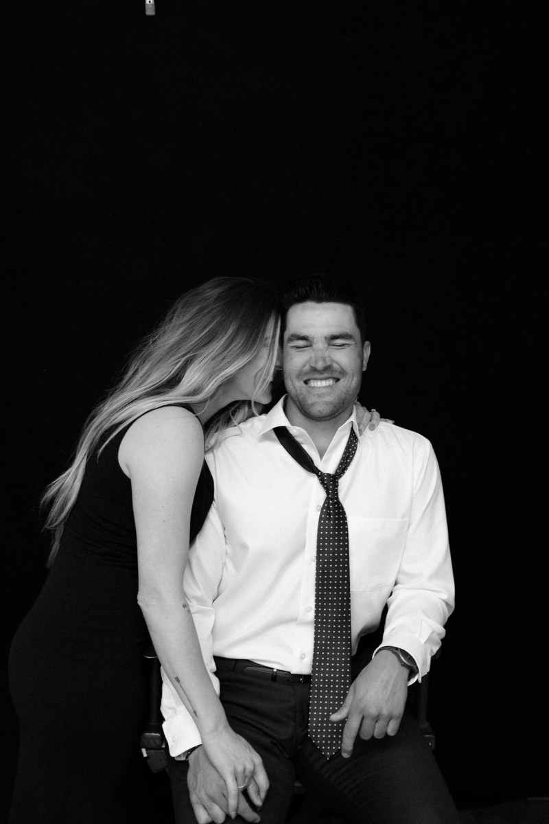 classic engagement pictue in photography studio orange county nicole caldwell 10