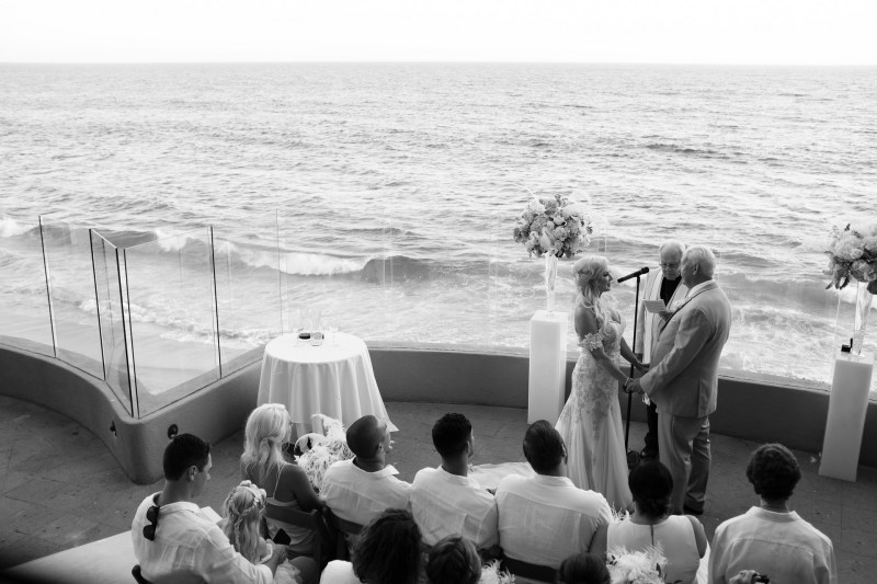 intimate second wedding Surf and Sand REsort Nicole Caldwell 18
