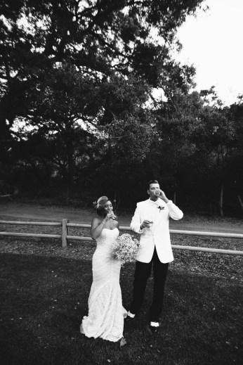 temecula creek inn weddings stonehouse ceremony bride and groom champagne