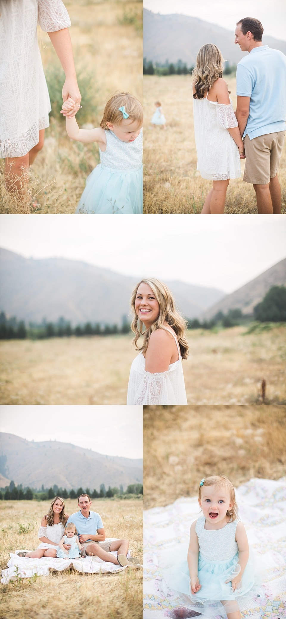 white cold shoulder dress fro family photos