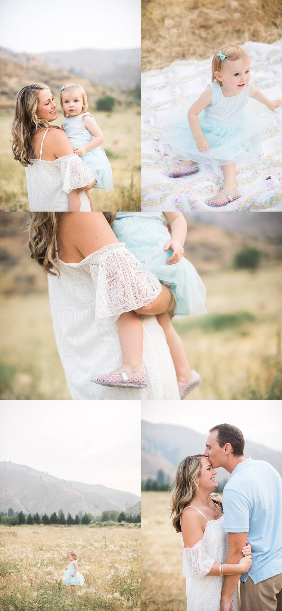 white cold shoulder dress for family photos