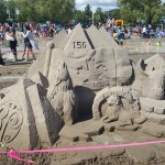 One of the sandcastles at the competition