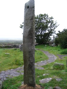 Kilmalkedar Ogham Stone (image is public domain via Wikimedia commons)