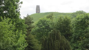 View of the Tor from Chalice Gardens, in the place where Marion Zimmer Bradley's ashes are scattered