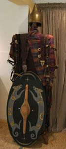 Celtic warrior`s garments, replicas. In the museum Kelten-Keller, Rodheim-Bieber, Germany. By Gorinin  via Wikimedia Commons