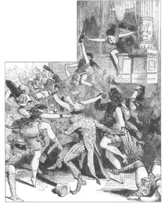 The 1869 French Ball. From Barbara Goldsmith's book, Other Powers