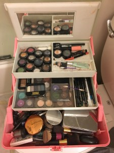 What do you mean not everyone keeps tons of makeup in a Caboodle from the 1980s?