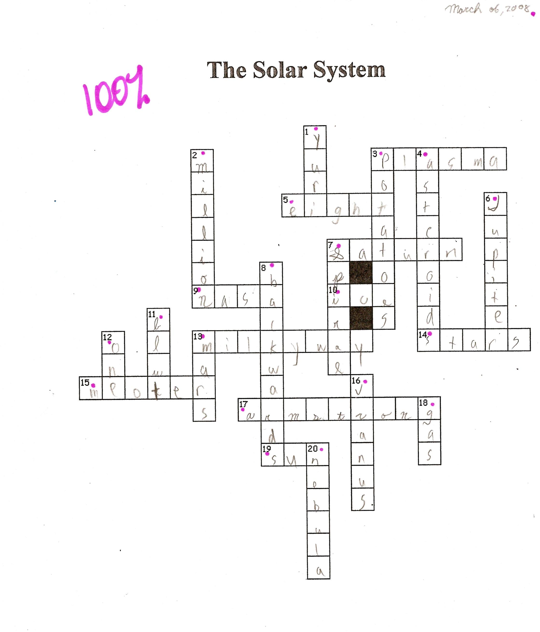 31 The Solar System The Sun Worksheet Answers