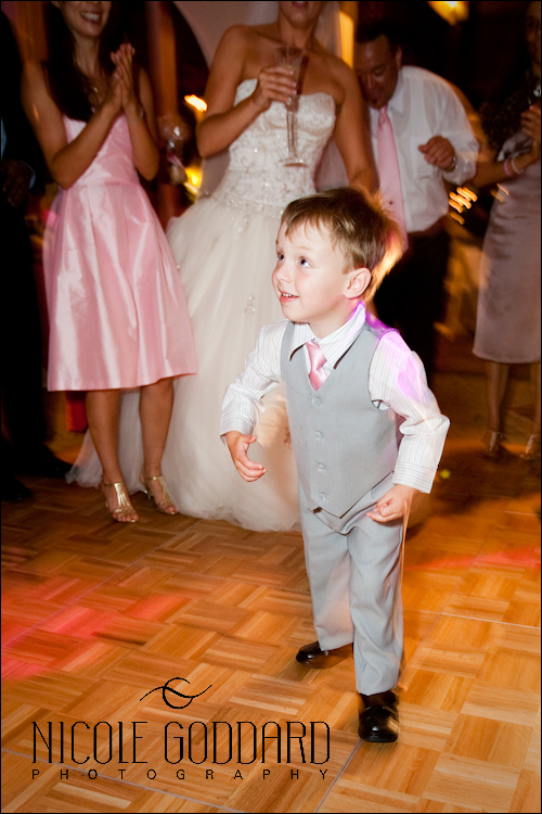 The ringbearer was getting DOWN to the beats.